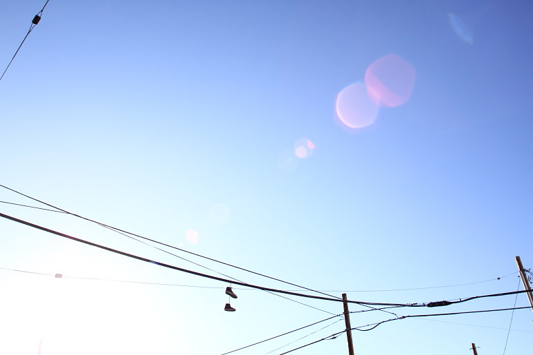 shoes on powerlines